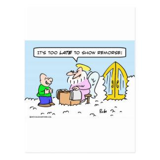 saint peter show remorse late heaven postcard