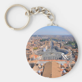 Saint Peter square in Vatican, Rome, Italy Keychain
