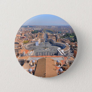 Saint Peter square in Vatican, Rome, Italy Pinback Button