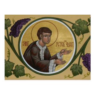 Saint Peter the Aleut Prayer Card Post Card