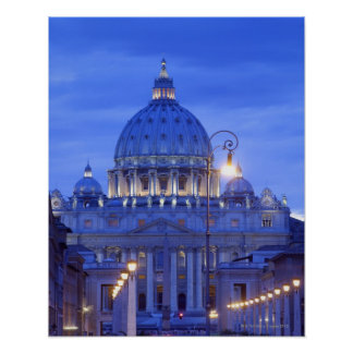 Saint peters bascillia  evening dusk view poster