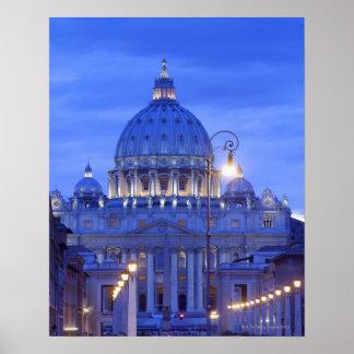 Saint peters bascillia  evening dusk view poster