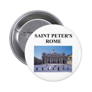 saint peter's basilica 2 inch round button