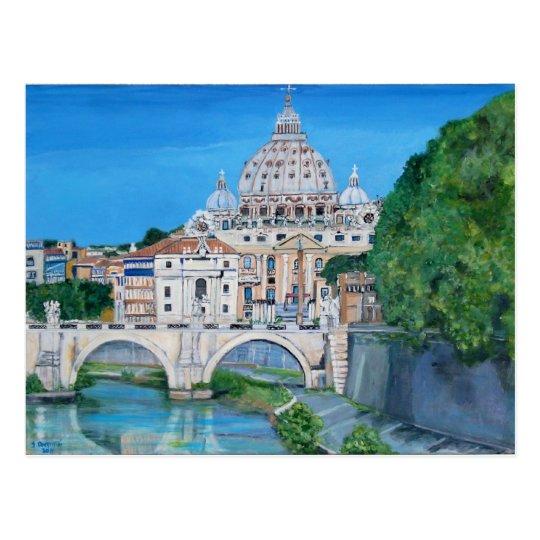 Saint Peter's Basilica Tiber River Postcard