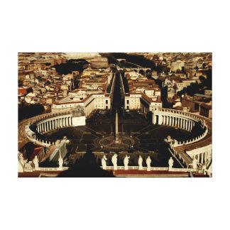 Saint Peters Square Stretched Canvas Print