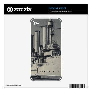 Saint Petersburg, Cruiser Aurora 2 Skins For iPhone 4S