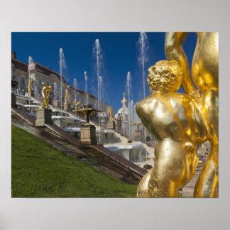Saint Petersburg, Grand Cascade fountains 10 Poster