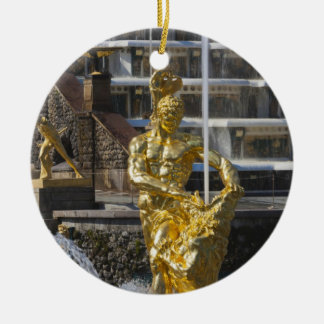 Saint Petersburg, Grand Cascade fountains 3 Ceramic Ornament