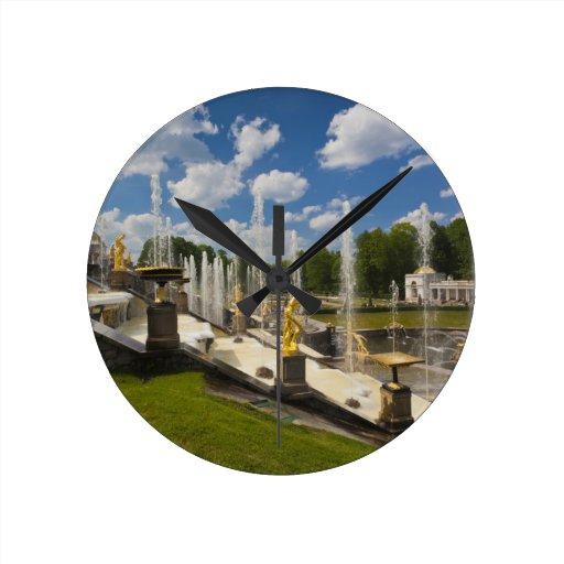 Saint Petersburg, Grand Cascade fountains 6 Wallclock