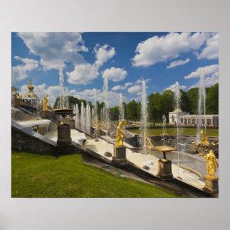 Saint Petersburg, Grand Cascade fountains 6 Poster