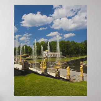 Saint Petersburg, Grand Cascade fountains 7 Poster