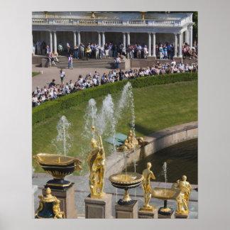 Saint Petersburg, Grand Cascade fountains 8 Poster