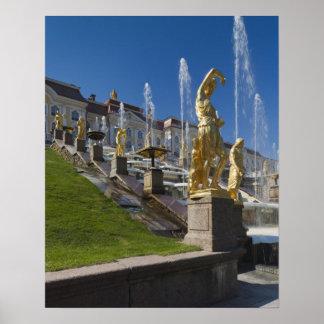 Saint Petersburg, Grand Cascade fountains Poster