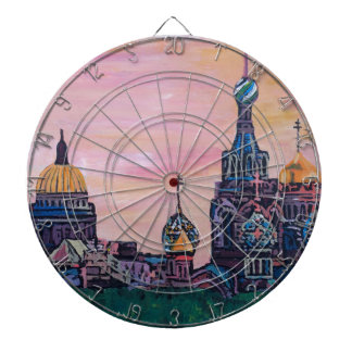 Saint Petersburg II Dartboard With Darts