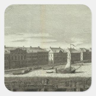 Saint Petersburg, Russia 4 Square Sticker