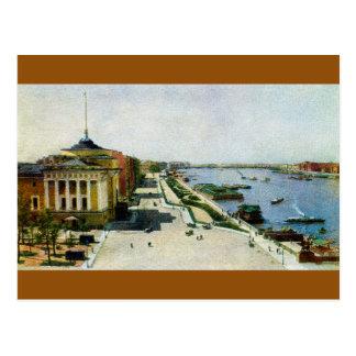 Saint Petersburg Russia Neva river and Admiralty Postcard