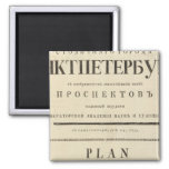 Saint Petersburg, Russia Title Page 2 Inch Square Magnet