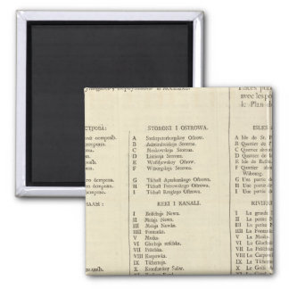 Saint Petersburg, Russia Title Page Index Page 2 Inch Square Magnet