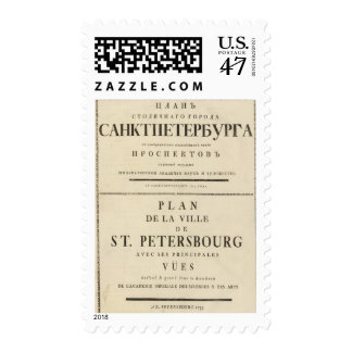 Saint Petersburg, Russia Title Page Postage