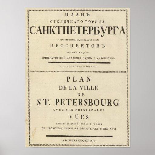 Saint Petersburg, Russia Title Page Print