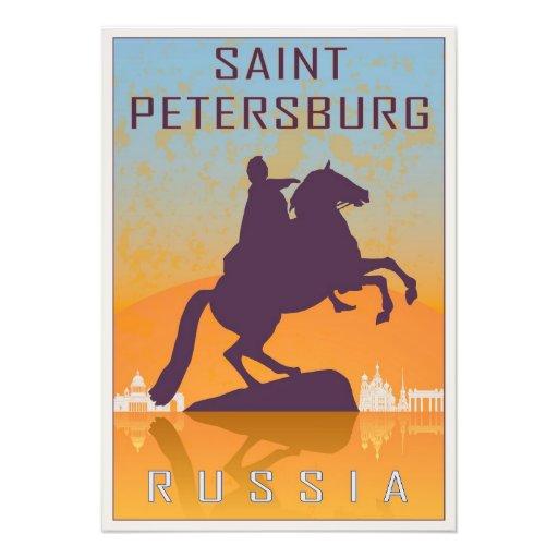 Saint Petersburg vintage poster Fotografia