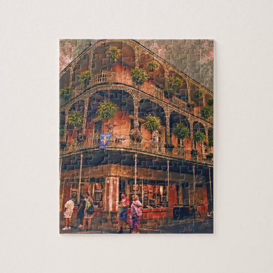 Saint Philip and Royal streets in French Quarter N Jigsaw Puzzle