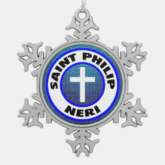 Saint Philip Neri Snowflake Pewter Christmas Ornament