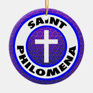 Saint Philomena Ceramic Ornament
