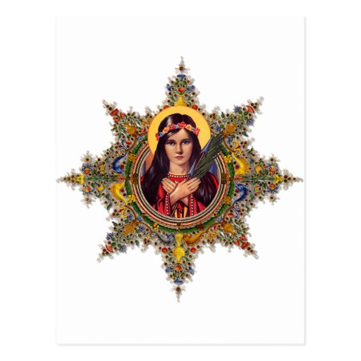 Saint Philomena, patron of babies & children Postcard