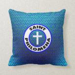 Saint Philomena Throw Pillow