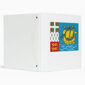 Saint Pierre and Miquelon Flag 3 Ring Binder
