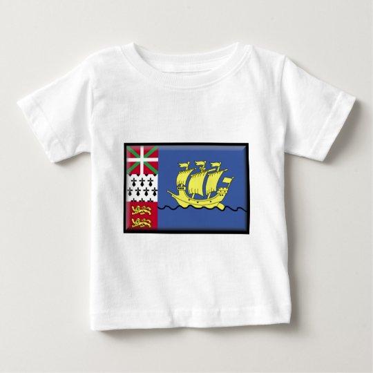 Saint Pierre and Miquelon Flag Baby T-Shirt
