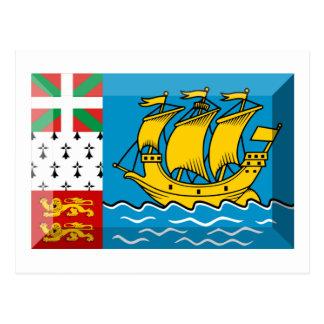 Saint-Pierre and Miquelon Flag Jewel Postcard