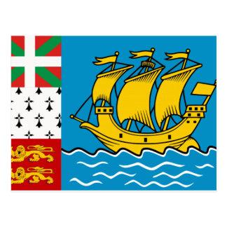 Saint Pierre and Miquelon Flag Postcard