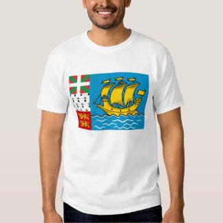 Saint-Pierre and Miquelon Flag Tee Shirt