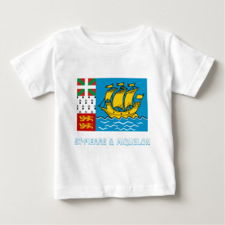 Saint-Pierre and Miquelon Flag with Name Shirt
