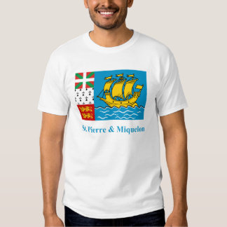 Saint-Pierre and Miquelon Flag with Name T-shirt