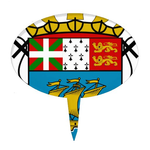 Saint Pierre and Miquelon (France) Coat of Arms Cake Topper