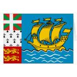 Saint Pierre And Miquelon, France flag Card