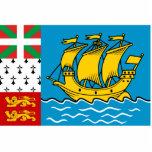 Saint Pierre And Miquelon, France flag Photo Cutout