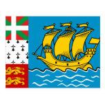 Saint Pierre And Miquelon, France flag Post Cards