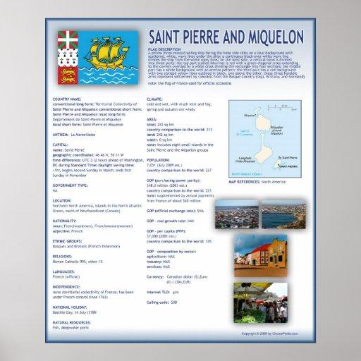 Saint Pierre and Miquelon Print