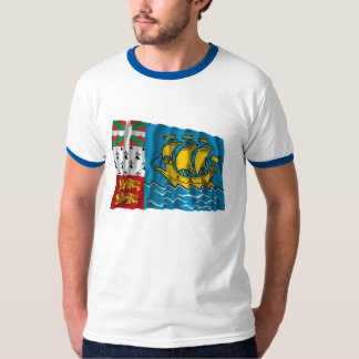 Saint-Pierre and Miquelon Waving Flag T-Shirt