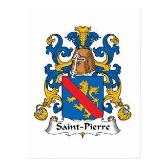 Saint-Pierre Family Crest Postcards