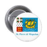 Saint Pierre y bandera de Miquelon con nombre Pins