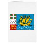 Saint Pierre y bandera de Miquelon Felicitaciones