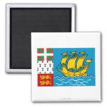 Saint Pierre y bandera de Miquelon Imanes De Nevera