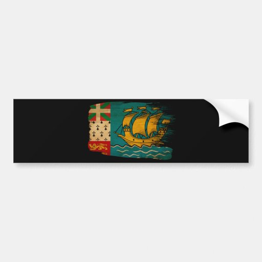 Saint Pierre y bandera de Miquelon Pegatina Para Auto