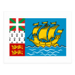 Saint Pierre y bandera de Miquelon Tarjeta Postal
