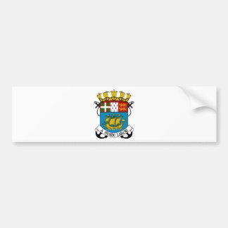 Saint Pierre y escudo de armas de Miquelon Pegatina Para Auto